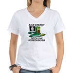 Save energy Women's V-Neck T-Shirt