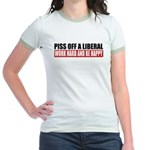 Piss Off A Liberal Jr. Ringer T-Shirt