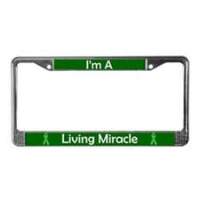 Living Miracle License Plate Frame