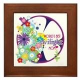 World's Best Twilight Mom Purple Framed Tile
