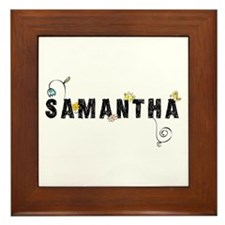 Samantha Floral Framed Tile