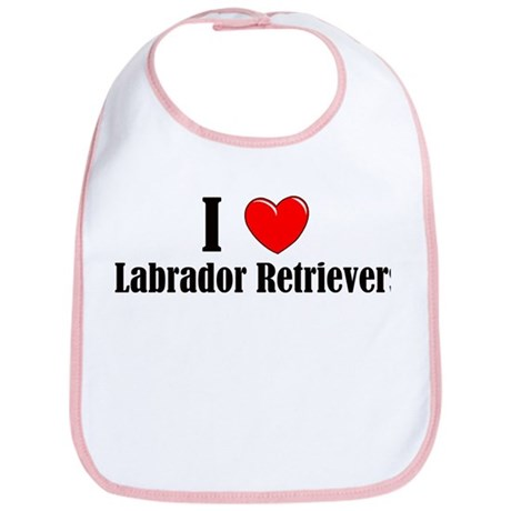 I Love Labs Bib