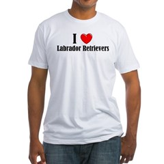 I Love Labs Fitted T-Shirt