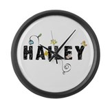 Hailey Floral Large Wall Clock