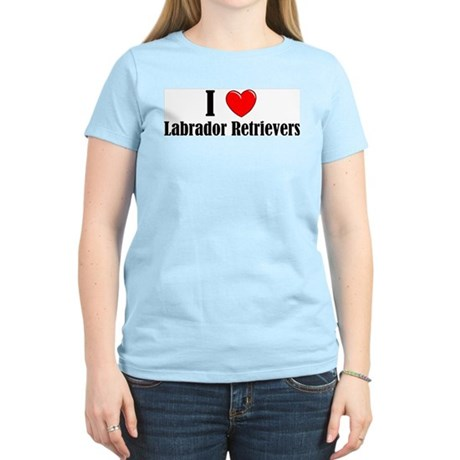 I Love Labs Women's Pink T-Shirt