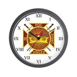Masonic Knights Templar Wall Clock