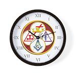 Masonic York Rite Wall Clock