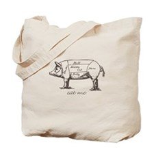 Eat Me Pork Dark Tote Bag