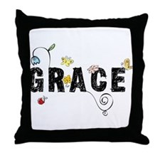 Grace Floral Throw Pillow
