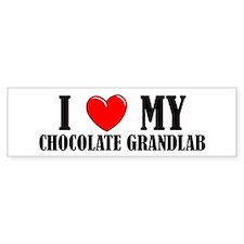 Chocolate Grandlab Bumper Bumper Sticker