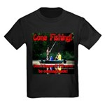 Gone Fishing Kids Dark T-Shirt