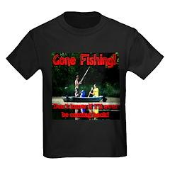 Gone Fishing Kids Dark T-Shirt