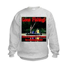 Gone Fishing Kids Sweatshirt