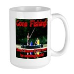Gone Fishing Large Mug