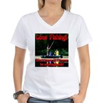 Gone Fishing Women's V-Neck T-Shirt