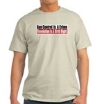 Gun Control Is A Crime Light T-Shirt