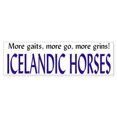 icey horse bumper sticker