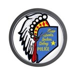 Reno Sparks Indian Police Wall Clock