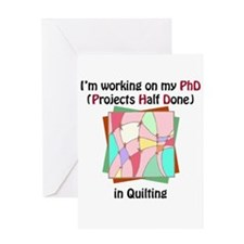 Quilting PhD Greeting Card