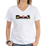 Remember The Alamo Women's V-Neck T-Shirt