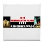 Remember The Alamo Tile Coaster