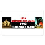 Remember The Alamo Sticker (Rectangle 10 pk)