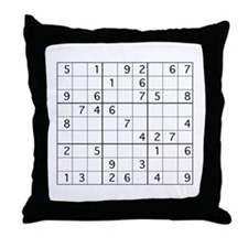 Cute Sudoku Throw Pillow