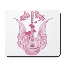Girly Winged Guitar Mousepad