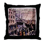 The Boston Tea Party Throw Pillow