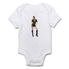 Sexy Army Gal Pin Up Infant Bodysuit