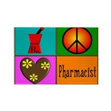 More Pharmacist Rectangle Magnet
