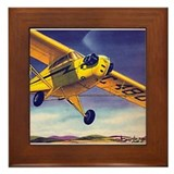Piper Cub In Flight Framed Tile