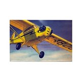 Piper Cub In Flight Rectangle Magnet (10 pack)