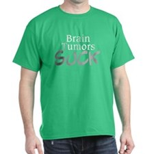 Brain Tumors Suck on Black T-Shirt