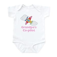 Grandpa's Co-pilot Girl Infant Bodysuit