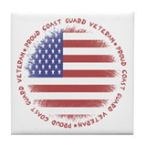 Proud Coast Guard Vet Tile Coaster