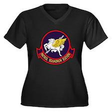 VP-11 Women's Plus Size V-Neck Dark T-Shirt
