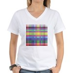 256 Colors Women's V-Neck T-Shirt