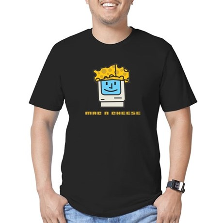 Mac n Cheese Men's Fitted T-Shirt (dark)