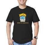 Mac n Cheese Men's Fitted T-Shirt (dark)