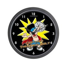 Captain Thunder Bolt! Wall Clock
