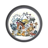 Thank You Dogs & Cats Wall Clock