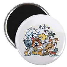 "Thank You Dogs & Cats 2.25"" Magnet (10 pack)"