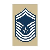 CMSgt Pre-1992 Stripes 3rd Decal