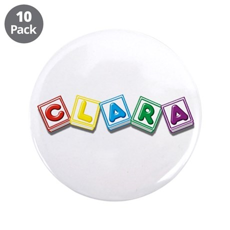 "Clara 3.5"" Button (10 pack)"