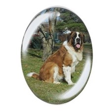 St. bernard Oval Ornament