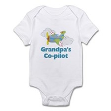 Grandpa's Co-pilot Boy's Infant Bodysuit