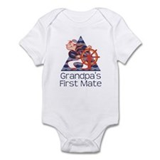 Grandpa's First Mate Infant Bodysuit