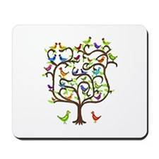 bird tree Mousepad