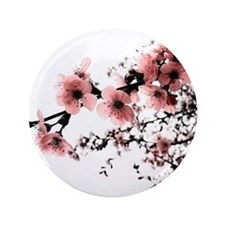 "Cherry Blossoms 3.5"" Button"